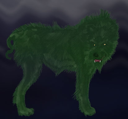 Green Eyes Dog Picture